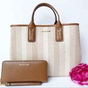 Michael Kors Greenwich Tote and Wallet Set
